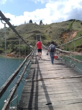 Bridge of Terror/ small comfortable jump into lake